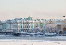 Der Winterpalast, St. Petersburg, Winter Russland